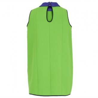 Roksanda Ilincic Hollicombe Neon Green Shift Dress