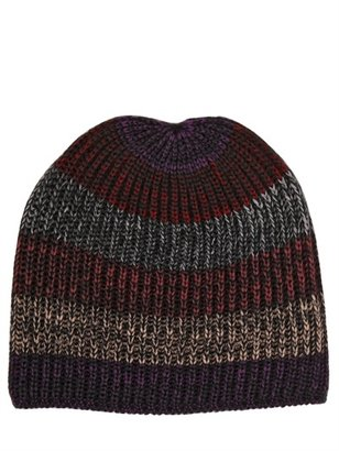 Missoni Ribbed Knit Wool Mohair Beanie Hat