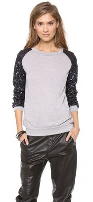 T-Bags Tbags Los Angeles Sequin Sleeve Sweater