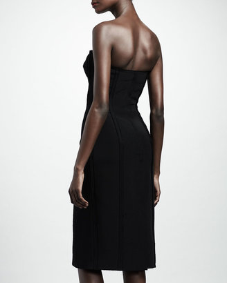 Lanvin Strapless Bustier Dress, Black