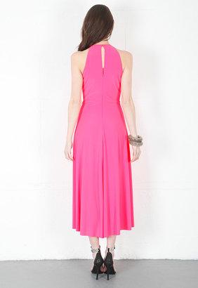Singer22 Marc Bouwer Hybrid Keyhole High Low Dress in Pink