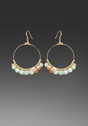 Kenneth Jay Lane Gold Hoop Earrings w