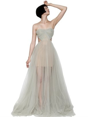 Maria Lucia Hohan Tulle Draped Long Dress