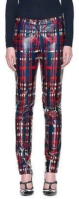 Tory Burch Christina Plaid Leather Pant