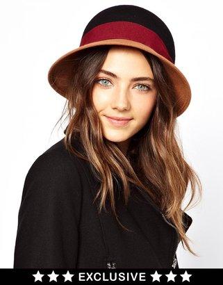 Catarzi Exclusive To ASOS Color Block Cloche Hat