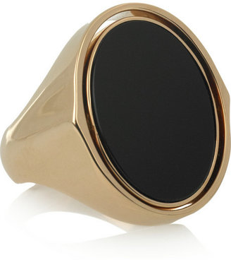 Maison Martin Margiela Reversible gold-plated brass oval ring