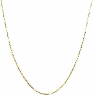 PRIVATE BRAND FINE JEWELRY Made in Italy14K Yellow Gold Semi-Solid Box Chain