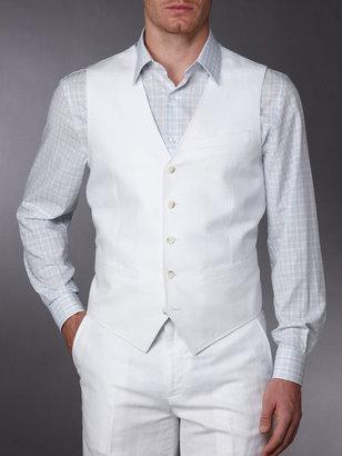 Perry Ellis Big and Tall Herringbone Suit Vest