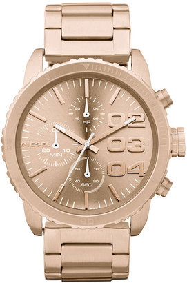 Diesel Watch, Chronograph Rose Gold-Tone Stainless Steel Bracelet 46x42mm DZ5318