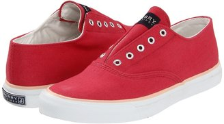 Sperry Laceless CVO (Red Canvas) - Footwear