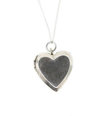 Lanie Lynn Vintage Silver Heart Locket