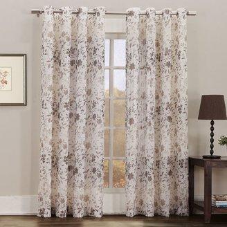Bed Bath & Beyond Gemma Print Sheer Grommet Window Curtain Panel