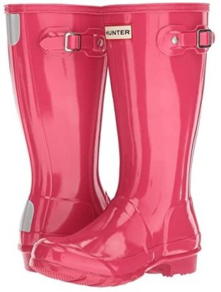 Hunter Original Kids' Gloss Rain Boot (Little Kid/Big Kid) (Black) Kids Shoes