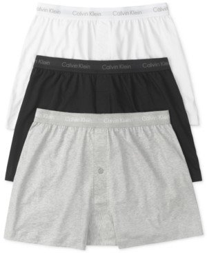 Calvin Klein Men's 3-Pk. Cotton Classics Knit Boxers NU3040