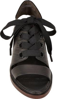 3.1 Phillip Lim Floreana Open-Toe Lace-Up Booties