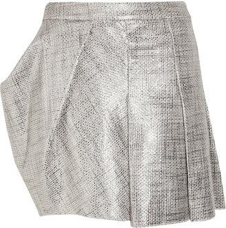 Todd Lynn Yahma metallic cotton-bouclé mini skirt