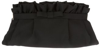 RED Valentino bow ruffle clutch