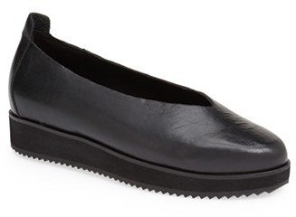 Women's Eileen Fisher 'Canoe' Leather Flat $175 thestylecure.com