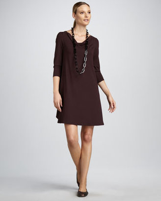 Eileen Fisher Cowl-Neck Dress