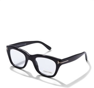 TOM FORD Large Acetate Frame Fashion Glasses, Black $445 thestylecure.com