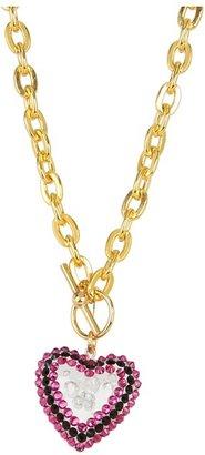 Tarina Tarantino Puff Heart Necklace - Gold