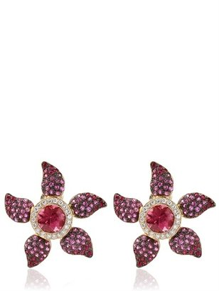 Rubie's Costume Co Cleison Roche - Lotus And Diamonds Earrings
