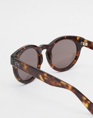 Consortium Round Sunglasses Rin Brown