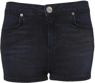 Topshop MOTO Rubber Stripe Hotpants