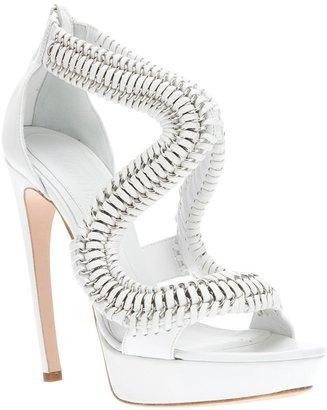 Alexander McQueen chain high heel sandal