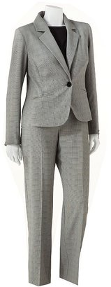 Isabella Collection plaid suit jacket and pant set