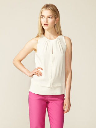 Peter Som Double Placket Keyhole Top