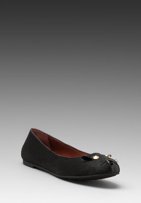 Marc by Marc Jacobs Mouse 10mm Ballerina Flat with Calf Hair