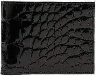 Men's Martin Dingman Genuine American Alligator Billfold - Black $550 thestylecure.com