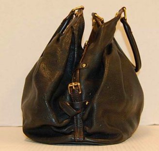 Louis Vuitton excellent (EX Black Monogram Leather Mahina XL Shoulder Bag