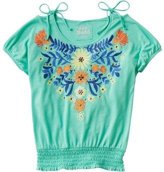Mudd floral cold-shoulder tee - girls 7-16