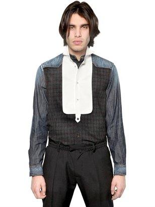 DSquared Denim & Check Flannel Shirt