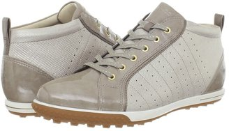 Ecco Golf Life Street Luxe Bootie (White/White/Steel) - Footwear