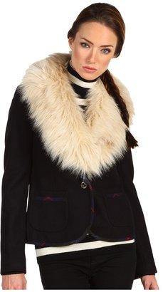 Juicy Couture Faux Fur Collar Blazer (Dark Regal) - Apparel