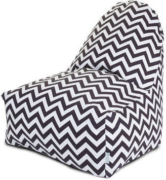 Majestic Home Kick-It Chair Chocolate Chevron