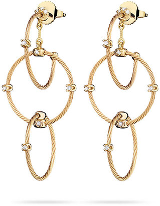 Paul Morelli 18k Yellow Gold Diamond Link Earrings, 41mm
