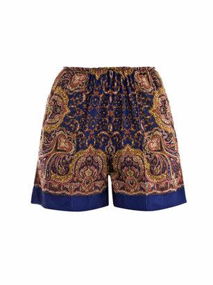 Carven Paisley-print shorts