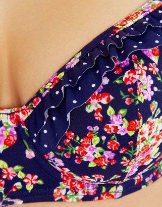 Figleaves Midnight Grace by figleaves.com Prairie Girl Underwired Padded Sweetheart Bikini Top