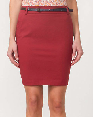 Le Château Cotton Twill Pencil Skirt