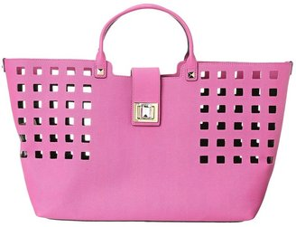 Juicy Couture Shopper Tote Emblazon Leather (Pink) - Bags and Luggage