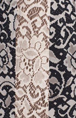 Maggy London Mixed Print Ponte Knit Sheath Dress