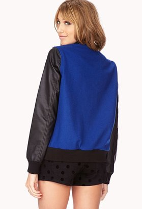 Forever 21 Fresh Colorblocked Varsity Jacket