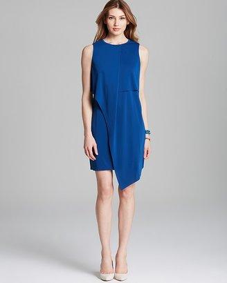 Adrianna Papell Sleeveless Dress with Asymmetric Overlay