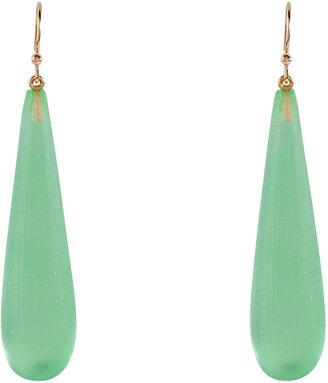 Alexis Bittar Sea Foam Green Teardrop Earrings