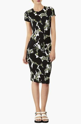 Topshop Abstract Print Body-Con Dress