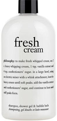 philosophy 3-in-1 ultra rich shampoo, shower gel & bubble bath, fresh cream 16 oz